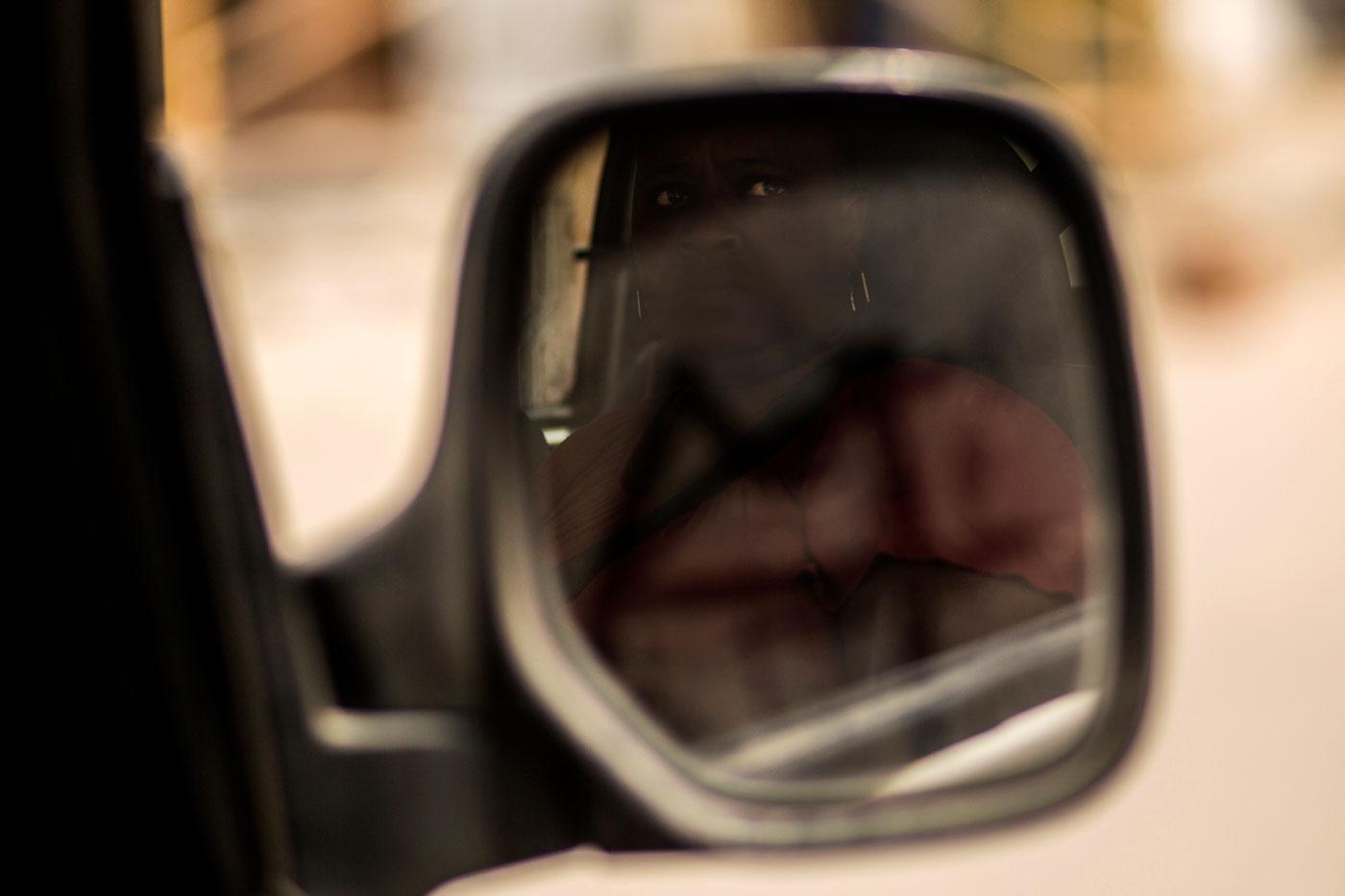coche retrovisor